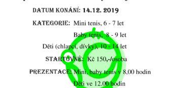 Vánoční tenisový turnaj dětí 2019